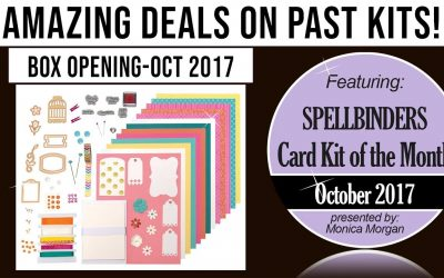 Amazing deals on past Spellbinders kits – Oct 2017, Card Kit Opening