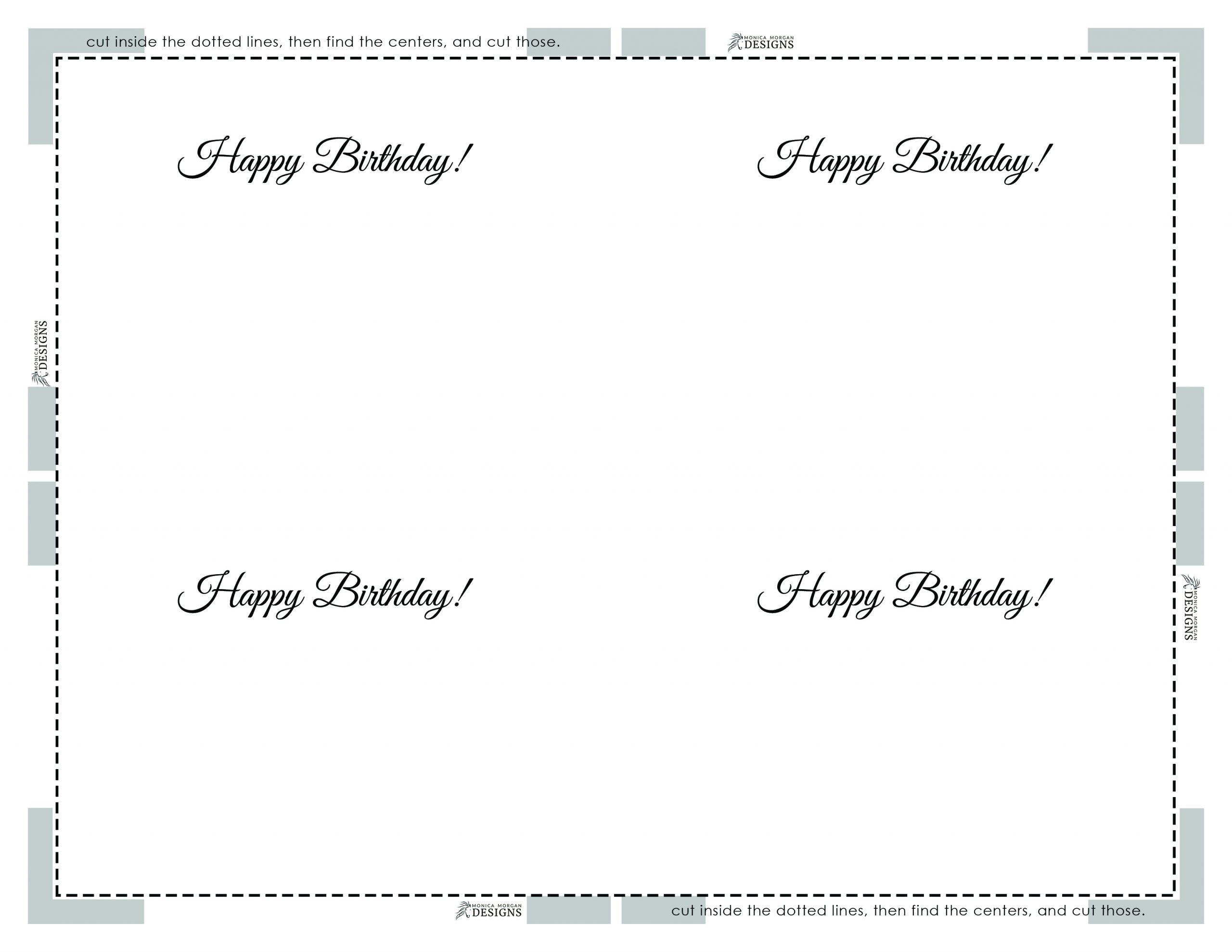 Happy Birthday - Horizontal