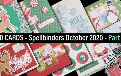 10 Cards, 1 Kit, Spellbinders, October 2020, Part 1