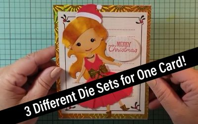 Using 3 different Spellbinders die sets for one card!