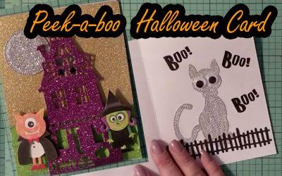 Cute idea for a Peek-A-Boo Halloween Card